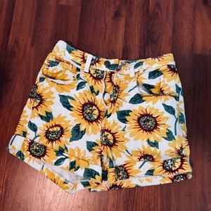 American Apparel high waisted patterned shorts